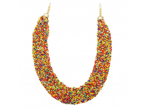 Archiecs Creations Alloy Multicolor Beads Strand Necklace for Women