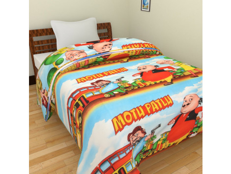 KRISHNA MOTU PATLU CARTOON PRINT SINGLE AC BLANKET