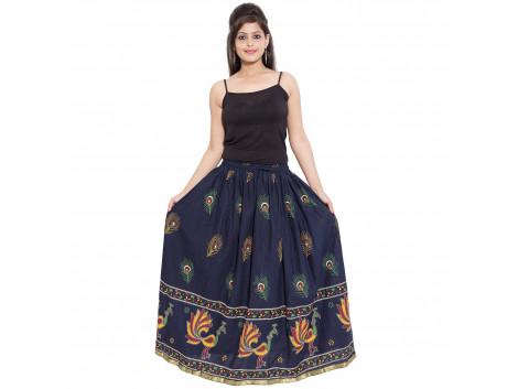 Archiecs Creation Self Design Women's Regular Blue Skirt (Free Size-SKT501)