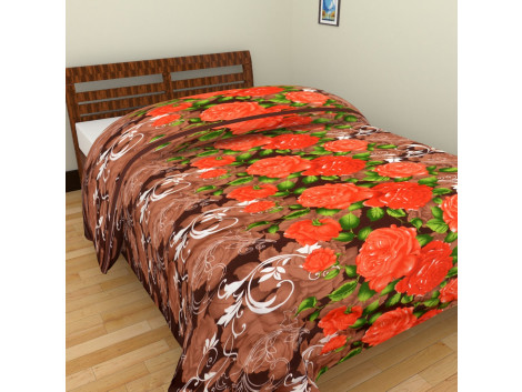 Pink Flower Single Bed Blankets
