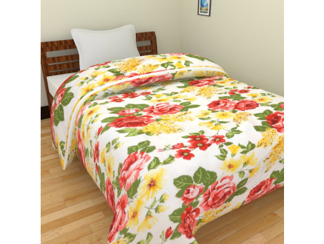 KRISHNA Polycotton Double Blanket - Multicolour