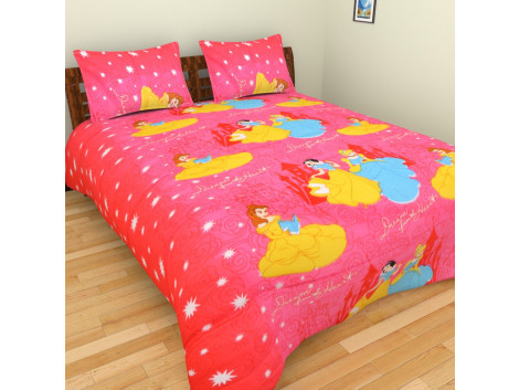 Cartoon Characters Double Bed Bedsheets