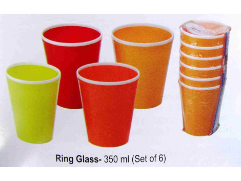 Arrison Nayasa microsafe Ring 6pc Glass Set, Color May Vary