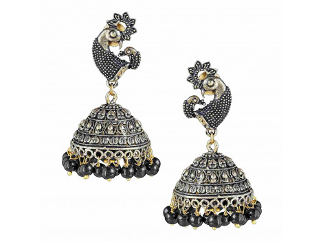 Archiecs Creations Oxidised Gold Plated with Pearl Jhumki Earring for Women