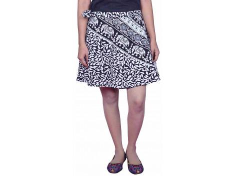 Pezzava Wraparound Womens Short Skirt