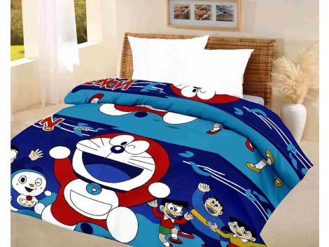 kids quilt doraemon Blue A.C Blanket single bed size Dohar