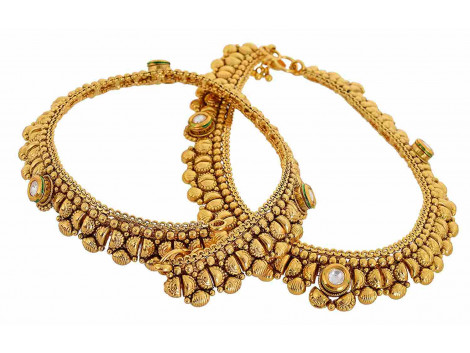 SPE Gold Metal Anklets for Women (AN-01)