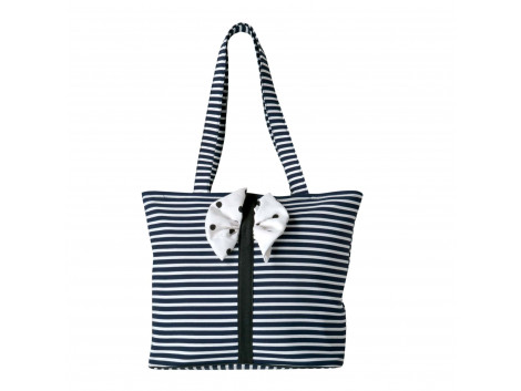 Angelfish Black & White Zebra Fabric Designer Tote Shoulder Bag for Women