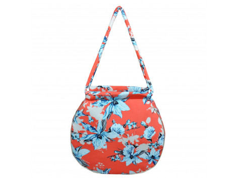 angelfish shoulder bag round moss crepe
