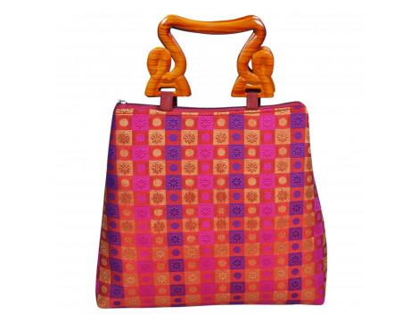 angelfish designer brocade handbag