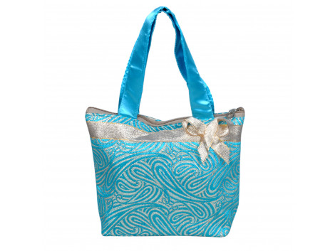 angelfish brocade handbag turquoise