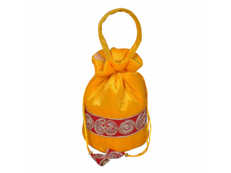 angelfish potali bag yellow shining velvet