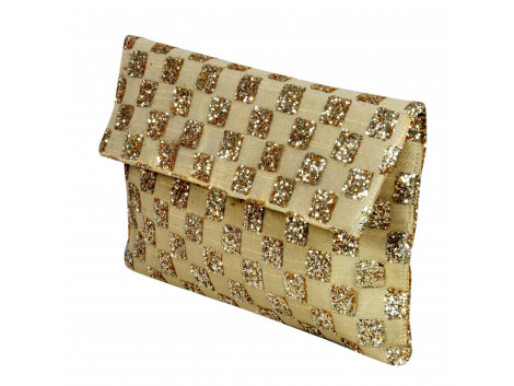 checkered style clutch