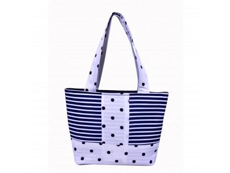 Angelfish Black & White Zebra Fabric Designer Tote Bag for Women