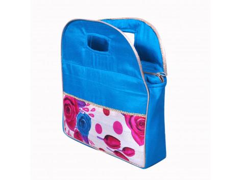 Angelfish Designer Floral Print Women Handpurse blue
