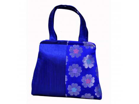 Angelfish Silk or brocade fabric handbag