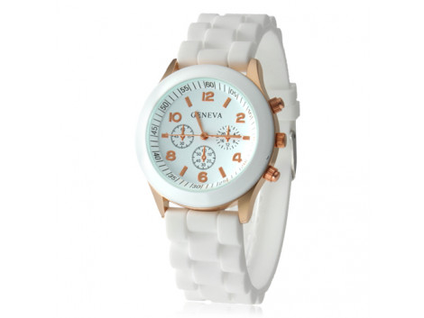 Angelfish Women's or Girl's Watch Fashion Silicone Strap Candy Color Length 25Cm White