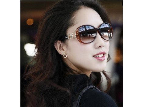 Women Sunglasses Jade Crystal Textured Elegant