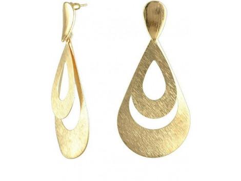 Gold Plated metal Big Drop Earrings