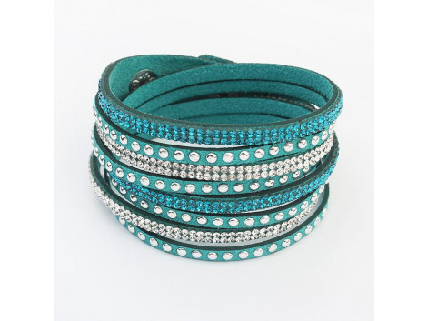 Multilayer Crystal Bracelet - Green