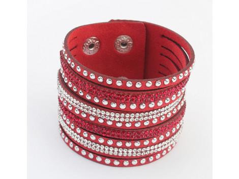 Multilayer Crystal Bracelet - Maroon