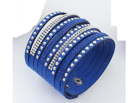 Multilayer Crystal Bracelet -  Blue