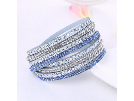 Multilayer Crystal Bracelet Light Shining - Blue