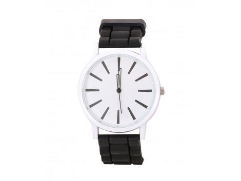 Angelfish Brown Round Shape Analog Silicon band automatic luxury wristwatch