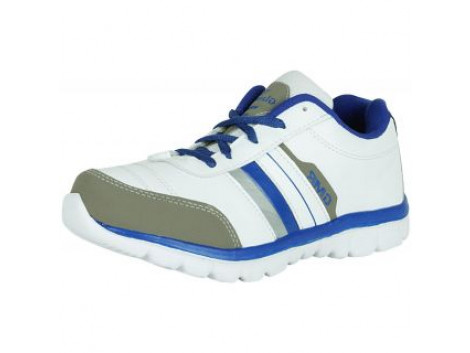 Glamour White R Blue Sports Shoes (ART-1014)