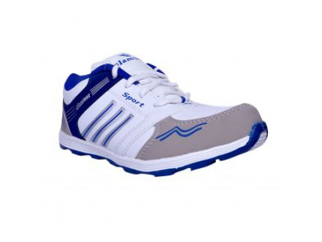Glamour White R Blue Sports Shoes (ART-6058)