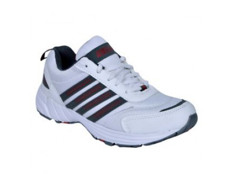 Glamour White Grey Sports Shoes (ART-7502)