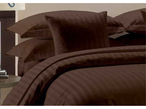 Egyptian Cotton Beddings Bed Sheet With Pillow Covers - Brown