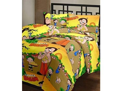 CrazeVilla Chhota Bheem cartoon print single bed reversible Ac Blanket/Dohar for kids