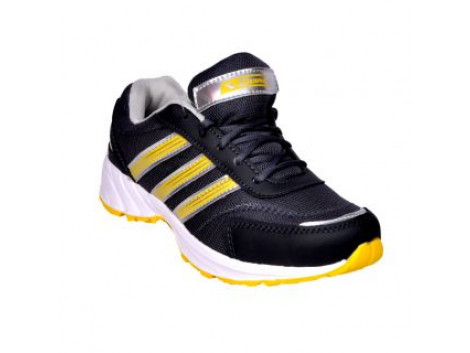 Glamour Grey Yellow Sports Shoes (ART-3047)
