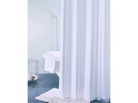 Freelance Multi Hilton PVC Shower Curtain With 12 Hooks, Waterproof, White