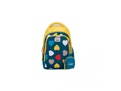 Genie Hearts Yellow 19L Backpack For Kids