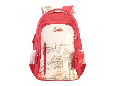 GENIE PARIS PINK 18 SCHOOL BAGS FOR GIRLS
