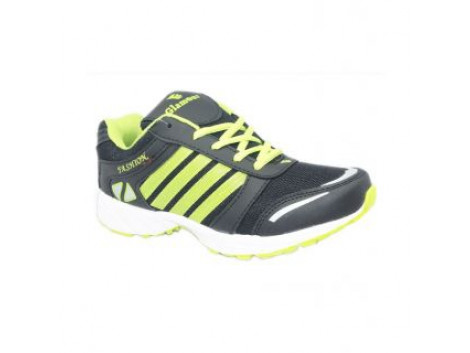 Glamour Black Green Sports Shoes (ART-3035)