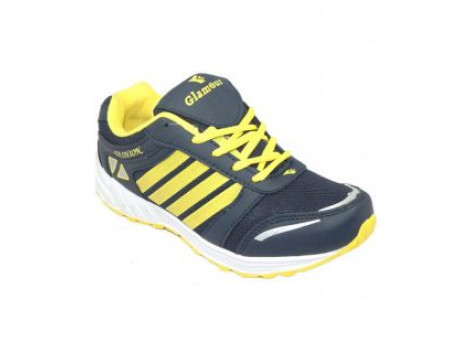 Glamour Blue Yellow Sports Shoes (ART-3035)