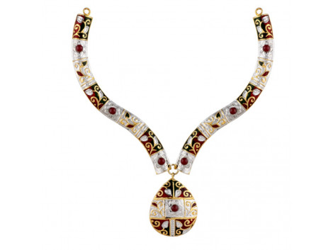 Vatika True (Pakka) Meenakari Necklace Set 5737