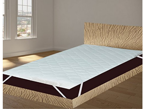 """India Furnish Waterproof Quilted Mattress Protector With Elastic Band King Size - White 72""""x36"""""""