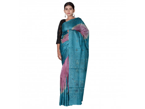 TLC's Dual Tone Women Kosa Silk Handwoven Saree