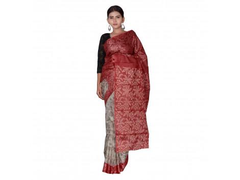 TLC's Full Ornate Women Kosa Silk Handwoven Saree