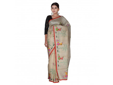TLC's Tribal Figurine Women Kosa Silk Handwoven Saree
