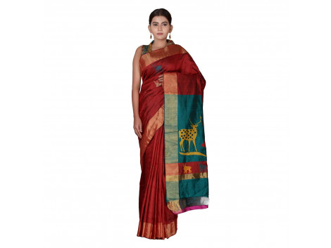 TLC's Tribal Folklore Women Kosa Silk Handwoven Saree