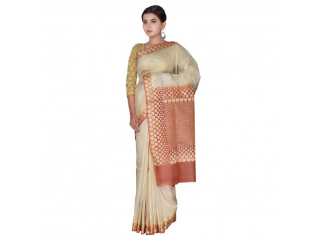 TLC's Shimmering Dots Women Kosa Silk Handwoven Saree