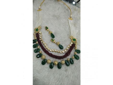 Designer Bridal Kundan Stone Necklace set