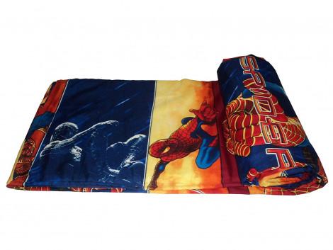 """Lali prints Spiderman single bed size quilt """" Dohar """""""