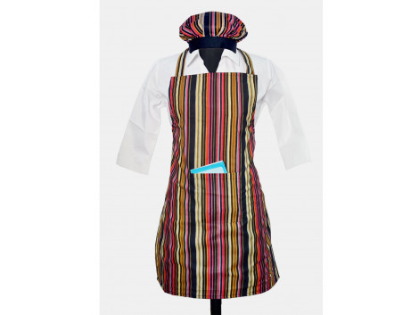Switchon Waterproof Cotton Kitchen Apron with Cap
