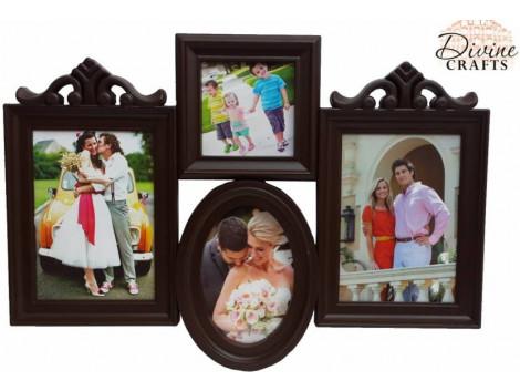 DivineCrafts Glass Photo Frame  (Photo Size - 11x16,8x8,9x13, 4 Photos)